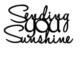 SENDING YOU SUNSHINE 67 x 35  pack of 3
